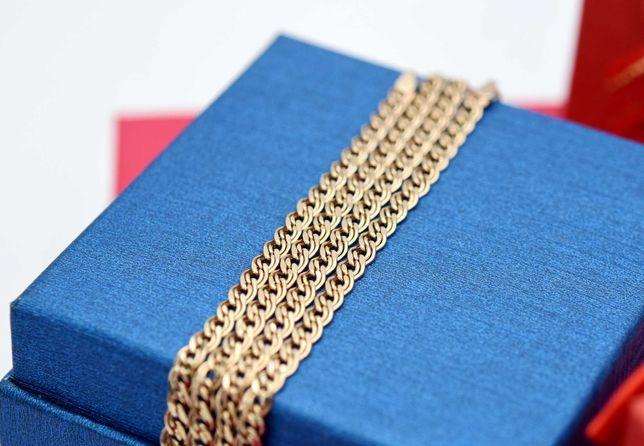 Piękny złoty łańcuszek, splot MONA LISA p. 585