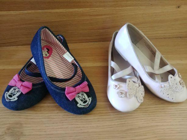 Baleriny balerinki pantofelki dla dziewczynki 29 H&M Myszka Minnie