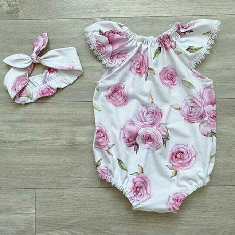 Бодик,песочник,панамка,комплект для девочки,платье трусики-блумеры