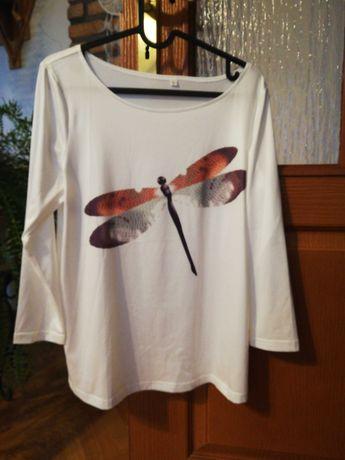 Biała bluzeczka z ważką