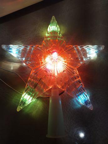 Звезда новогодняя для верхушки на елку