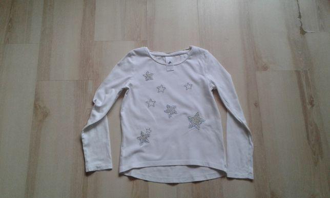 Biala bluzka gwiazdy srebne 134