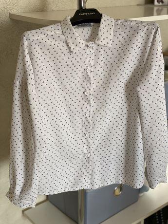 Гарна біла жіночі блуза рубашка від Vovk на гудзиках
