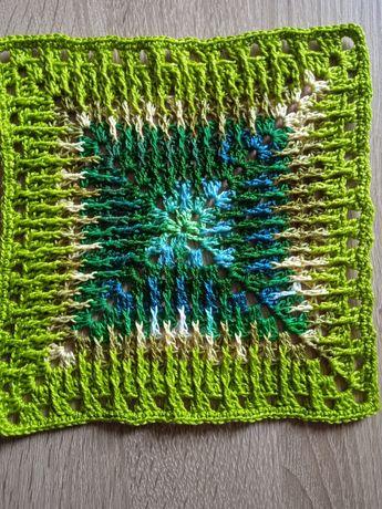 Serweta szydełkowa handmade kolor zielony