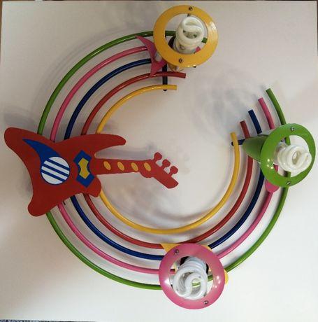 Żyrandol dziecięcy tęczowy [ LEROY MERLIN ] - 3 żarówki