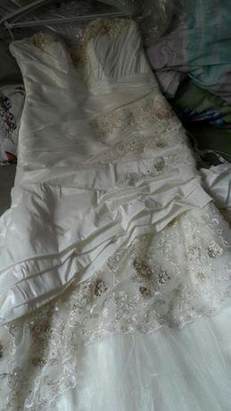 Śliczna suknia ślubna ecru na 164 rozmiar 40/42 polecam