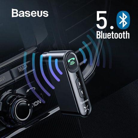 Baseus Bluetooth 5.0 адаптер AUX с микрофоном и аккумулятором Гарантия