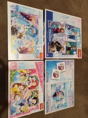 Puzzle, memory Frozen i księżniczki