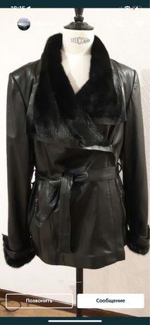 Кожаная куртка большой размер xxl