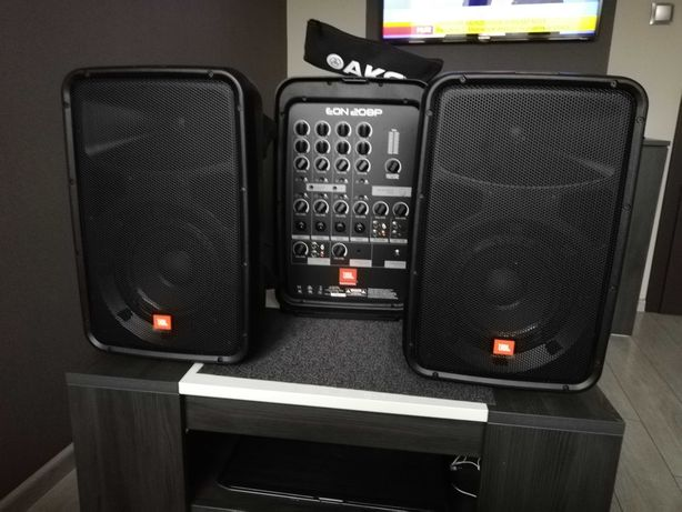 JBL Eon 208 + mikrofon AKG
