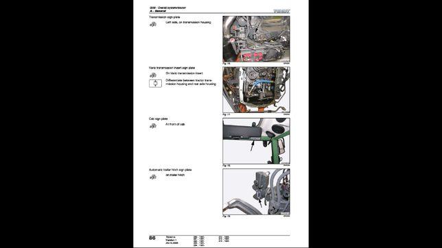 FENDT 200 VARIO v/f/p 260do 274 sadowniczy instrukcja napraw