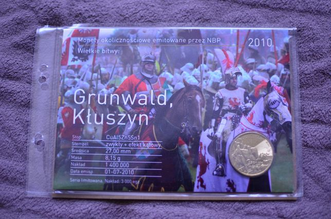 2zł Blister Wielkie bitwy: Grunwald, Kłuszyn - 2010