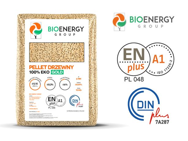 Pellet iglasty 6mm ENplus A1, Nowa Dęba PRODUCENT BIO ENERGY GROUP