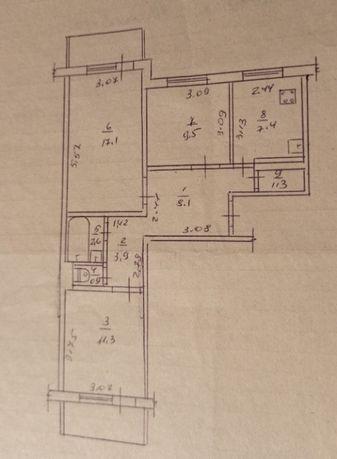 Продажа 3 комнатной квартиры ЮЗР