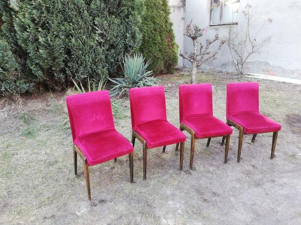 Krzesła Drewno PRL Retro Vintage Krzesło