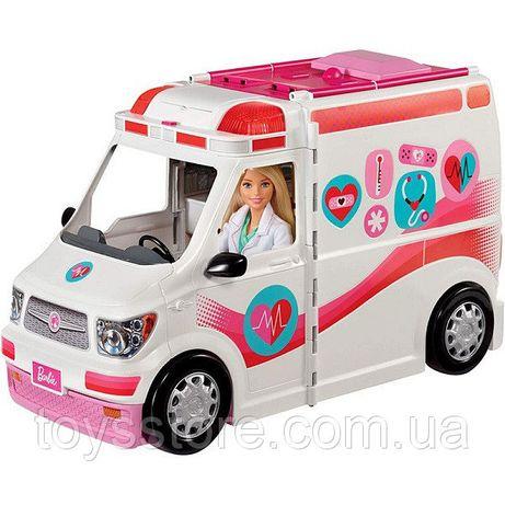 Автомобиль кемпер Барби Машина скорой помощи Mattel Barbie FRM19