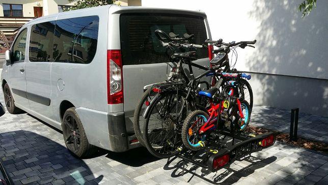 Wynajem Bagażnik rowerowy na hak 4 rowery Wypożyczenie WLKP Ostrów Wyn