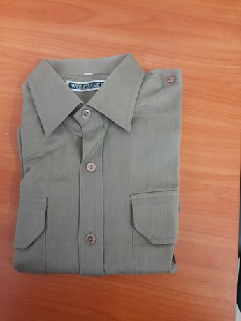 Koszula khaki z krótkimi rękawami rozm. 40/ 180
