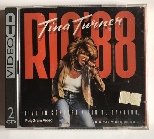 Vídeo CD duplo Tina Turner Live in RIO88
