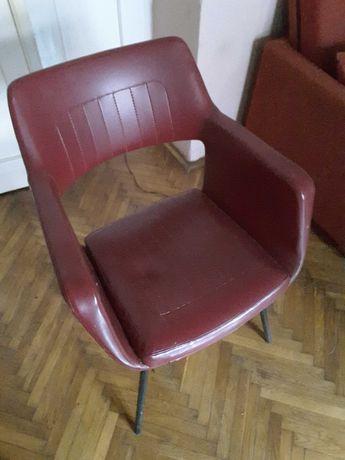Fotel klubowy muszelka PRL