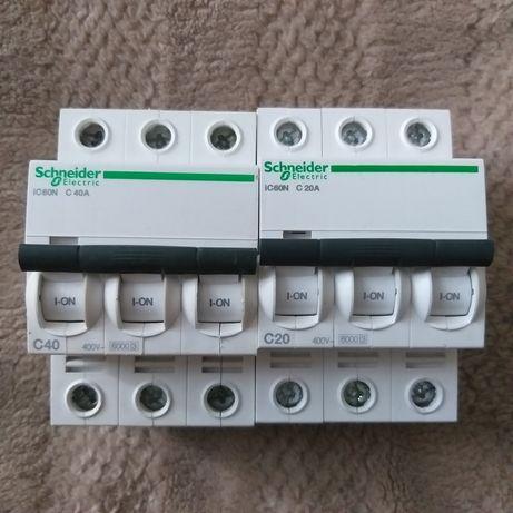 Автоматический выключатель Schneider Electric iC60N 3P 40A C 3P 20A C