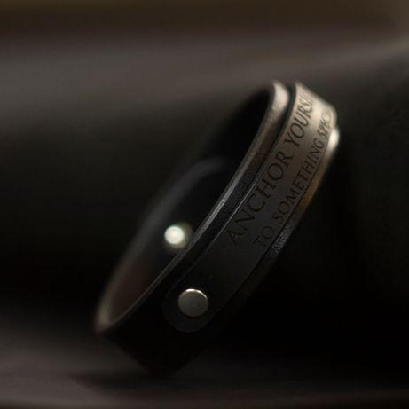 Кожаный браслет с Вашей гравировкой | Подарок мужчине | Ручная работа