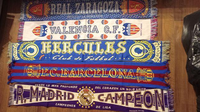 Szaliki Real Saragossa Real Madryt Valencia CF Hercules FC Barcelona