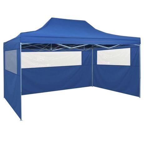 NOVAS-Tenda festas pop-up, 4 paredes laterais, 3x4,5m, azul ENVIO GRÁT