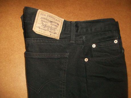 SPODNIE męskie p98 jeans 38/32 LEVI STRAUSS czarne