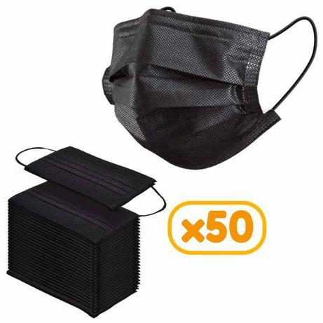 Не медицинские черные маски | OLX доставка | Упаковка 50шт.