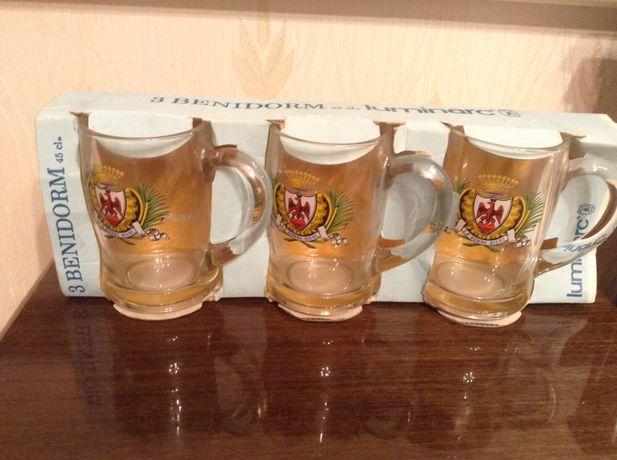 Продам комплект бокалов под пиво 3шт. Французские на 400 мл.каждый