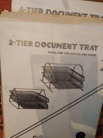 Лоток для бумаги, цветная бумага, канцтовары, папка, линейки, подушки