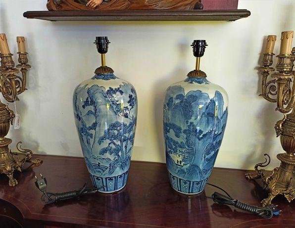 Par Candeeiros Porcelana Chinesa