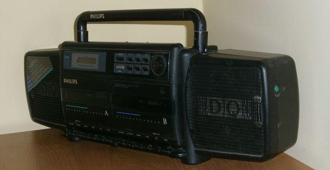 PHILIPS D8188/30 dwukasetowy radiomagnetofon z lat '80 BOOMBOX