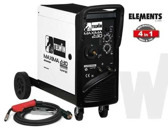 Máquina Soldar Telwin Maxima Synergic 230 MIG TIG FLUX MMA + Oferta