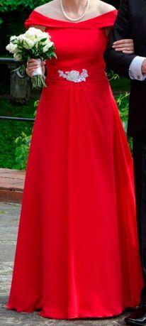 Suknia ślubna czerwona
