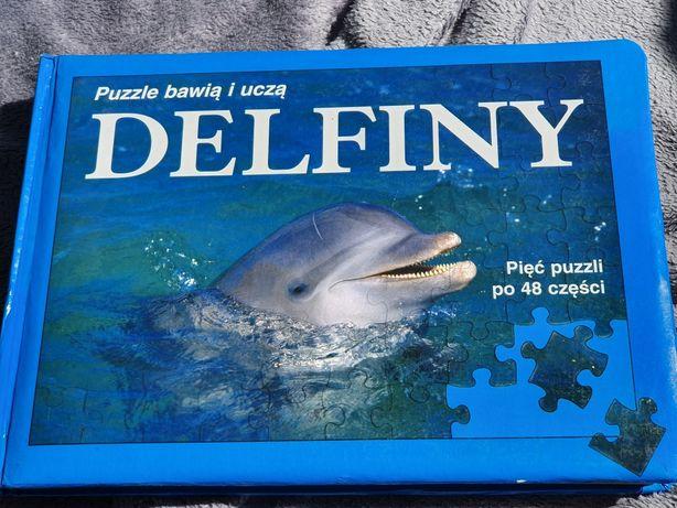 Książka z puzzlami 5x 48 puzzli DELFINY