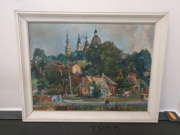 Juliusz Kłeczek Chełm 1976r.  Obraz olej na płótnie 60x80