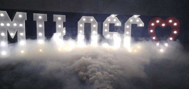 Napis Miłość, 18 ,Serce, Ciężki dym oświetlenie wystrzały CO2 120cm