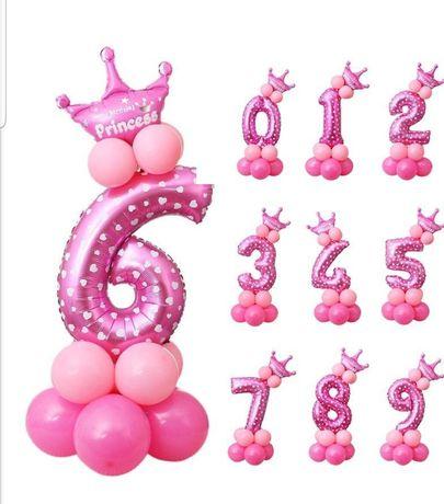 Цифра на день рождения, воздушные шары для фотозоны