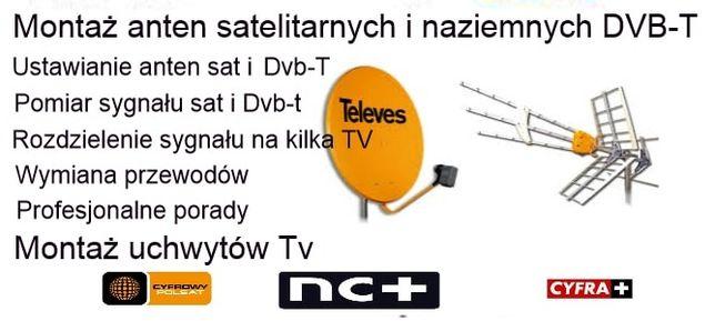 Montaż, serwis anten satelitarnych i naziemnych