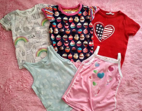 Футболки,кофты,платья,лосины на девочку 2-3 года.