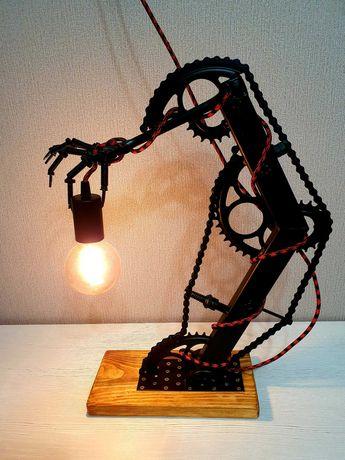Настольная лампа, Лофт, Стимпанк. Ручная работа.