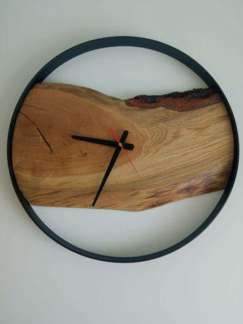 Zegar Ścienny Drewno Dąb LOFT 50 Zegray Ścienne Stojące WYSYŁKA
