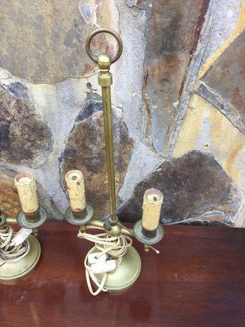 Candeeiro de Latão Antigo 42 centímetros de altura séc XIX