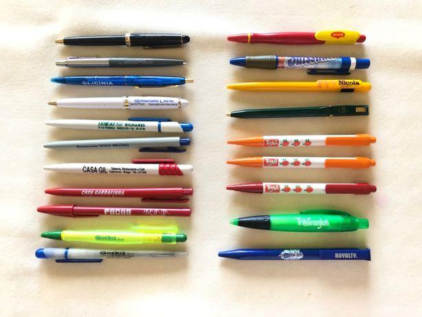 96 Canetas / Esferográficas várias marcas / publicidade de coleção