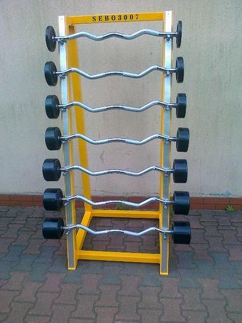 Sztangi łamane sztanga łamana proste prosta zestaw 10-40 co 5kg stojak