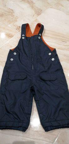 Spodnie ocieplane 12-18 m-cy (86 cm) narciary stan idealny