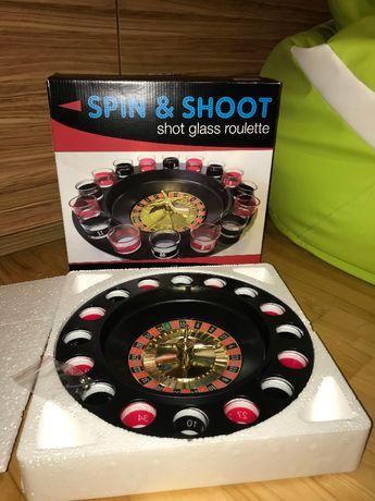 Gra alkoholowa w stylu kasyna-Gra Spin & Shoot Shot Glass Roulette