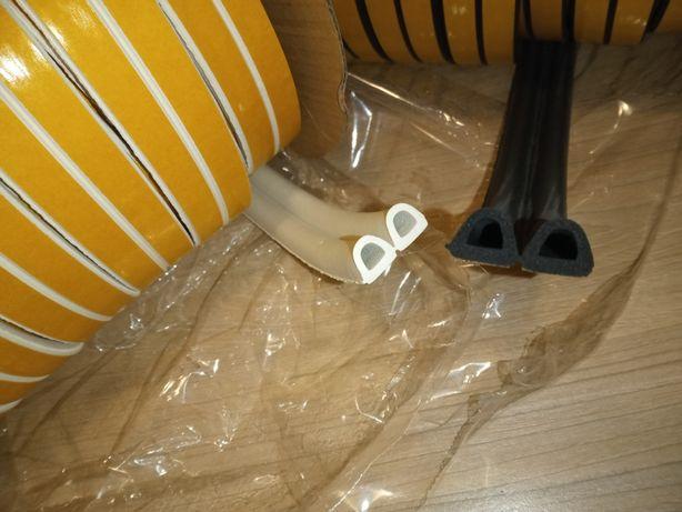 Уплотнитель резина самоклеющейся для утепления белый,чёрный 14 на 12